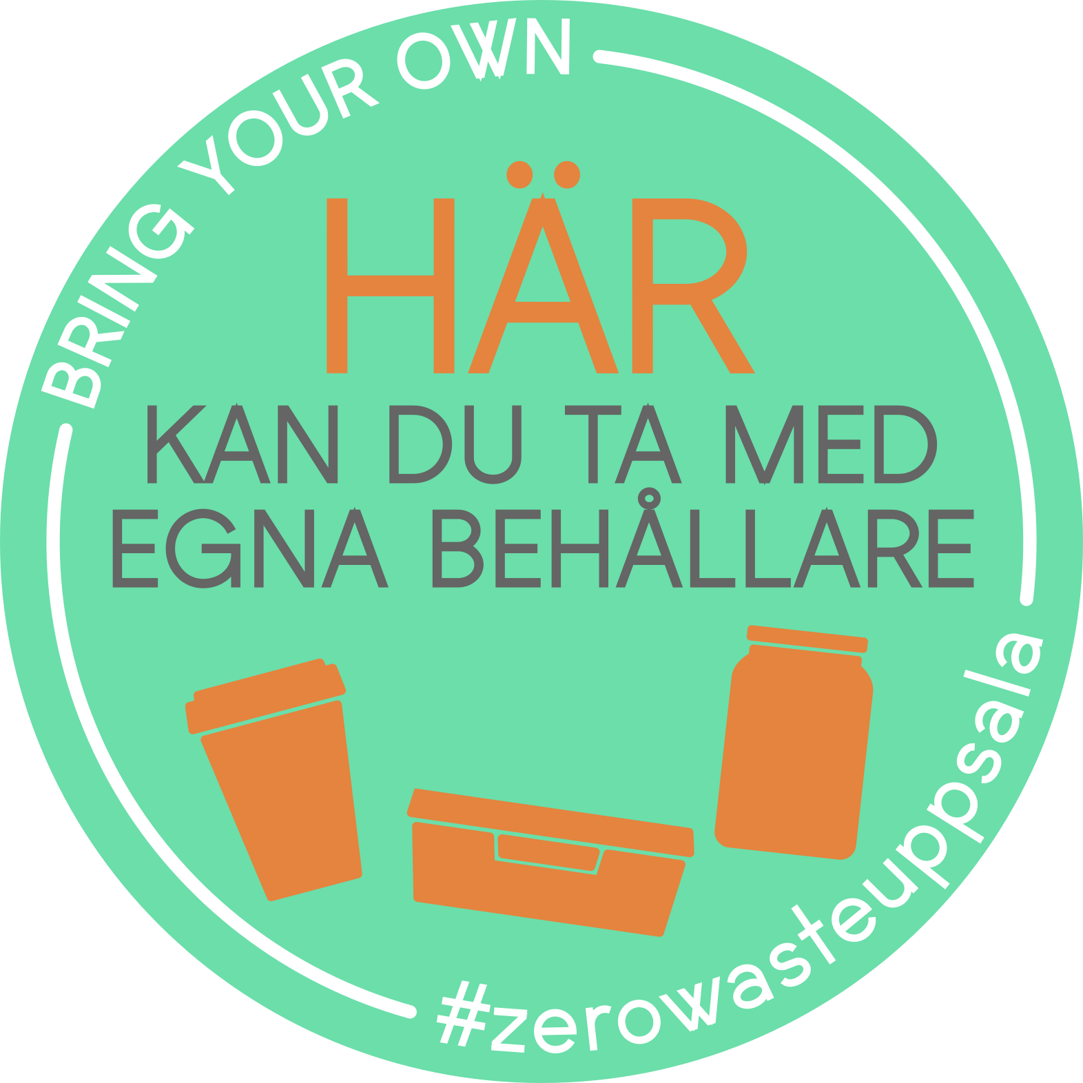 Zero Waste Uppsala sticker
